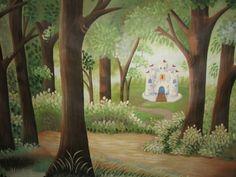 forest mural idea... No castle though!
