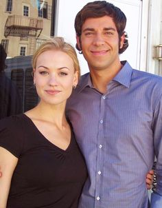 Zachary Levi and Yvonne Strahovski