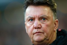 Manager Louis van Gaal of Manchester United looks on during the Barclays Premier League match between West Ham United and Manchester United at Boleyn Ground on February 8, 2015 in London, England.