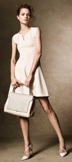 Love this neutral look // Magdalena Langrova for Harper's Bazaar UK.