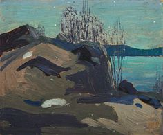 Tom Thomson Nocturne, 1915 Oil on Wood 22.1 x 26.9 cm