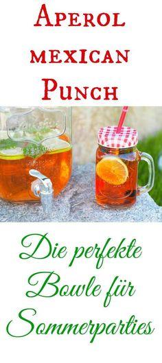 Der Aperol Mexican Punch ist die perfekte Alternative, wenn man viele Gäste hat. Eine superleckere Bowle (oder Cocktail, je nachdem welche Menge man herstellt)...sowohl im Sommer, als auch im Winter. Kann mit oder ohne Thermomix sehr schnell hergestellt werden. Ich liebe Aperol. Für eine Sommerparty das perfekte Getränk. #cocktails #bowle #aperol