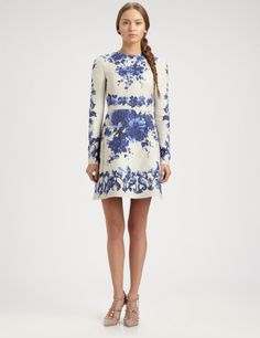 Valentino Blue Floral Dress