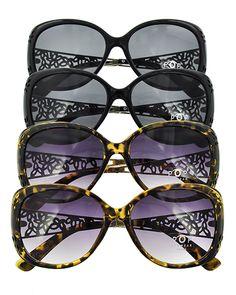 Acrylic & Gold Metal / Black & Brown & Purple / 1 Dz Packed Item / Classic Fashion W/ Leopard Print / Sunglasses / Uv400