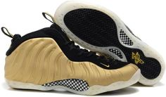 cheap for discount 937ce 03731 Nike Foamposite One Big Size US14 US15 Gold Black Black Basketball Shoes,  Black Nike Shoes