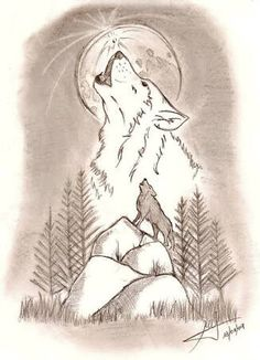#Me siento como un lobo solitario. Animal Drawings, Pencil Drawings, Animal Sketches Easy, Wolf Drawing Easy, Wolf Sketch Easy, Wolf Artwork, Drawing Projects, Easy Drawings, Doodle Art