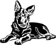 German Shepherd Outline Decal Shepherd Outline Decal