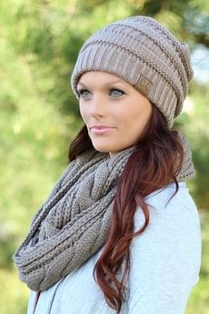 Taupe Knit Hat