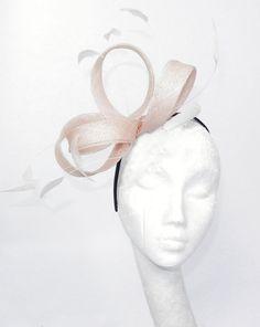 Cream Fascinator Hat for Weddings Cocktails by Hatsbycressida, $60.00