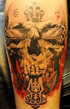 Realism Skull Tattoo by John Maxx