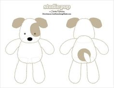Stuffed Animals Crafts free pattern - probably for an advanced young sewer but ash is going to try it. Sewing Toys, Baby Sewing, Sewing Crafts, Sewing Projects, Plush Pattern, Dog Pattern, Free Pattern, Sewing Stuffed Animals, Stuffed Animal Patterns