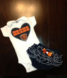 Chicago Bears Girls Girls Outfit by BebeSucreOnline on Etsy, $30.00  - Too adorable!
