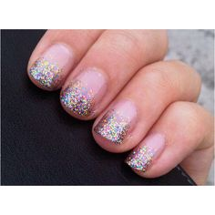 Sparkly and multicoloured! Perfect for a winter rainbow wedding