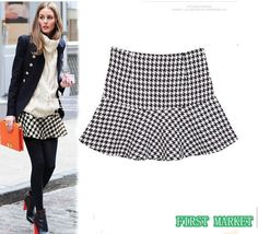 Winter Geometric Pattern  Short Skirt