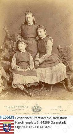 Princesses Victoria, Elisabeth and Irene ( on lower left) of Hesse