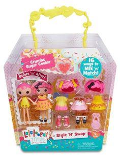 Lalaloopsy Minis Style 'N' Swap Doll- Crumbs Sugar Cookie