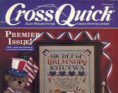 Check out Cross Quick Magazine Premier Issue Easy Projects for Cross Stitch Lovers on attictreasuresbyjudy
