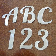 Elegant Font Steel Letter A B C D E F G H I J by langleymetalworks