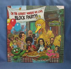 RARE Vintage Sesame Street Block Party  On The by sweetleafvinyl, $16.99