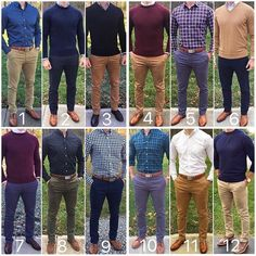 men's fashion and style inspiration grid outfits for men's grid style business suits Business Casual Men, Men Casual, Casual Styles, Business Suits, Mens Fashion Suits, Fashion Outfits, Men's Fashion, Formal Men Outfit, Work Outfit Men