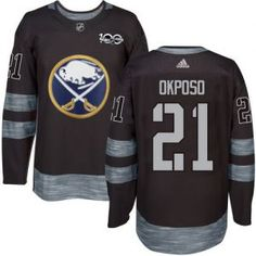dc555063679 Sabres  21 Kyle Okposo Black 1917-2017 100th Anniversary Stitched NHL  Jersey Tampa Bay