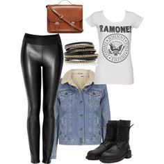 """Ramones style."" by majormaja on Polyvore"