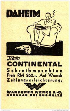 Original-Werbung/ Anzeige 1932 - KLEIN CONTINENTAL SCHREIBMASCHINE - ca. 60 x 90 mm