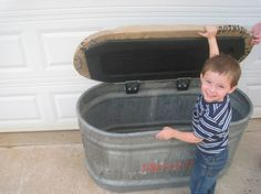 Salvaged Storage Bench from Salvaged Water by SouthernRestoration, $275.00