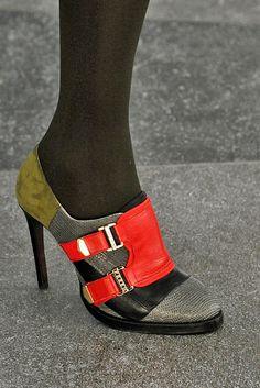 Preen's color-block oxford heels