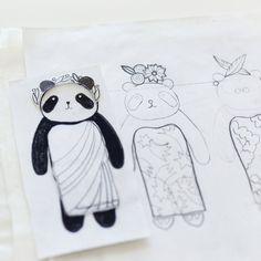 Tatiana Von Beelen Panda Paper Doll Workplace Dolls Bears
