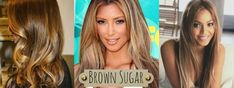 """2014 Hair Trends: Brown Sugar Channeling the warm undertones of their skin and eye color, this a great color selection for those dark brown clients who want to try """"going blonde."""" The amount of lightness can controlled by highlight size and placement; however, we recommend the balayage technique mixed with some hand painted pieces."""