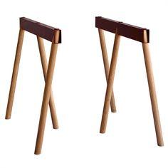 Crosscut Trestle Legs - Rust