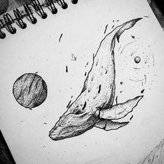 Space whale. #marte #whale #saturn #tattoo #wr #saturno #baleia #espaco #universo #space #blackworknow #blackline #flashddicted… Whale Tattoos, Dad Tattoos, 1 Tattoo, Body Art Tattoos, Sleeve Tattoos, Space Drawings, Ink Pen Drawings, Animal Drawings, Tattoo Drawings
