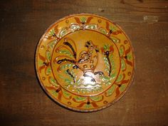 Turtlecreek Potters-Redware Plate- Bird-8""