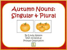 FREE Autumn Nouns picture/word cards. Match or sort on the included mat, or use in your writing center. - repinned by @PediaStaff – Please Visit  ht.ly/63sNt for all our ped therapy, school & special ed pins