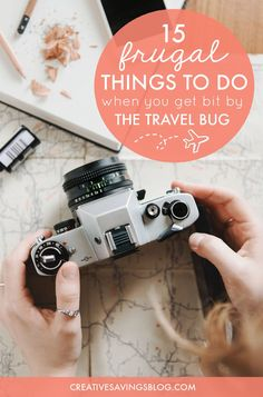 Have you been bitten by the travel bug? These 15 frugal ideas help you dream, plan, and fill up your travel fund as soon as possible. You'll also find clever ways to create travel-like experiences right at home!