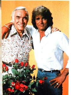 Michael Landon & Lorne Greene, Who Guest Stared On Highway To Heaven. Vintage Movie Stars, Old Movie Stars, Vintage Movies, Michael Landon, Lorne Greene, Bonanza Tv Show, Tv Westerns, Old Tv Shows, Classic Tv
