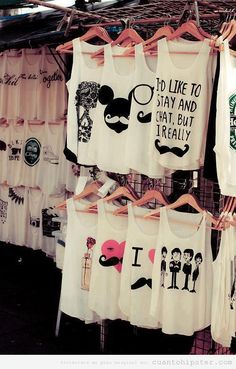 disney mickey mouse summer white clothes tank top moustache white tank top heart girly summer top t-shirt blouses tops fashionable girls teenagers perefct blouse leather black perfecto shirt. I want them all Look Fashion, Teen Fashion, Fashion Outfits, Womens Fashion, Fashion 2014, Funky Fashion, Nail Fashion, Fashion Clothes, Fashion Fashion