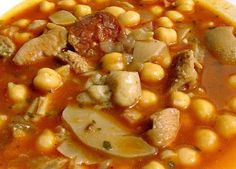 Dieta Propoints: RECETAS POR PUNTOS DE CALLOS CON GARBANZOS