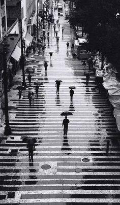 Downtown Sao Paulo in the rain, Brazil | Persio Pucci - Photography