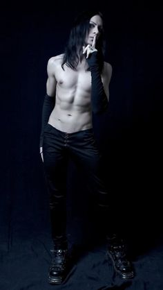 Sexy goth guy in tight pants. unf-- Google couldn't tell me who this was. Alright then, mystery man; I'll credit you when I find out who you are.