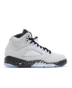 new product 95889 f3b3d Nike Air Jordan Retro 5 Gg Gs Wolf Grey Wolf Grey Black Black Outlet Nike  Air