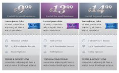 facebook fan pricing table