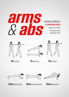 Arms and Abs Workout Fitness Workouts, Circuit Fitness, Fitness Abs, Fitness Plan, Ab And Arm Workout, At Home Workout Plan, At Home Workouts, Tone Arms Workout, Workout Pics