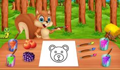 #EducationalGame  Let's help #Squirrel to fill the amazing #Colors to make an attractive #image in this #KidsGame.