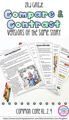 Are you looking for a way to teach your second graders how to compare and contrast different versions of the same story? This packet of fairytales from around the world will help your 2nd graders master Common Core Standard RL.2.9.