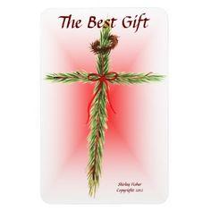 Christmas Cross Magnet