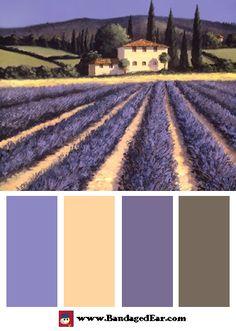 Purple Color Palette: Colors of Summer, Art Print by David Short - BandagedEar.com