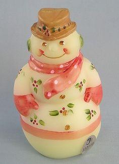 *FENTON ART GLASS ~ Glass 2011 Burmese Snowman
