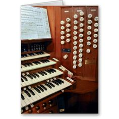 Dunedin  pipe organ console greeting cards